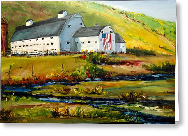 Mcpolin Park City Utah Barn Greeting Card
