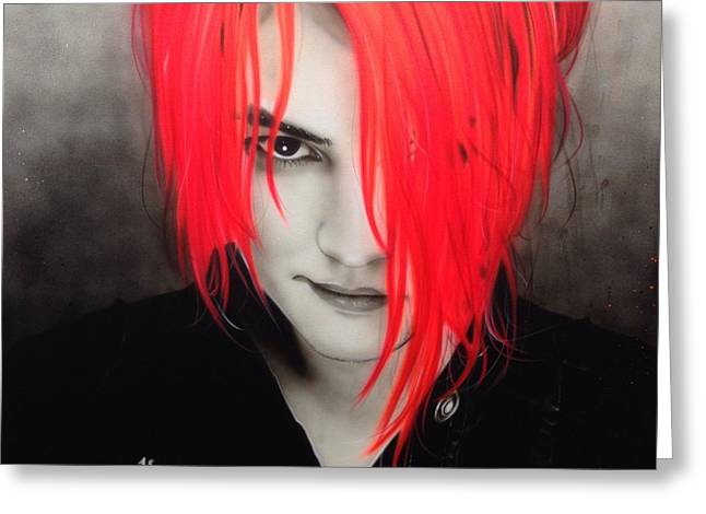 My Chemical Romance - ' M. C. R. ' Greeting Card by Christian Chapman Art