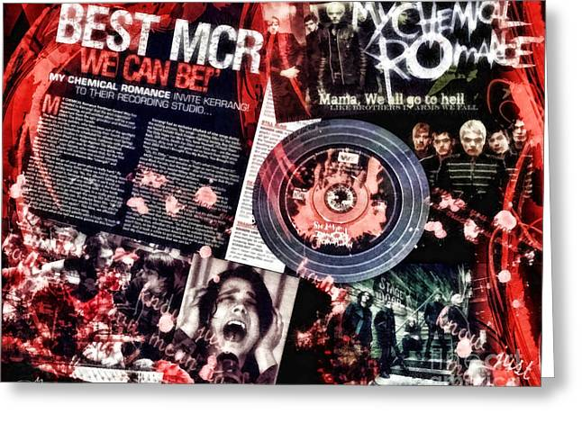MCR Greeting Card by Mo T