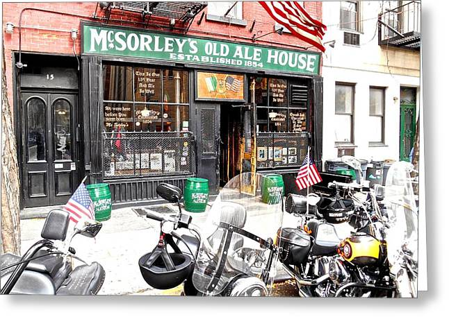 Mcsorley's Old Ale House Greeting Card by Joan Reese