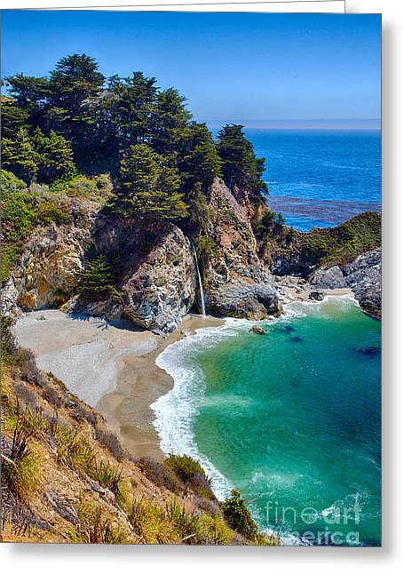 Mcway Falls At Julia Pfeiffer Burns State Park Greeting Card