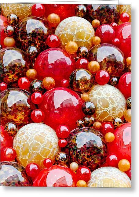 Mdina Spheres Blown Glass Balls In Valetta Malta Greeting Card