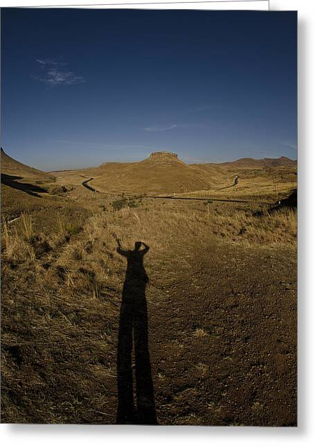 Me And My Shadow Greeting Card by Aaron Bedell