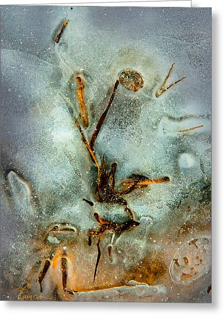 Meade Ice Abstract Greeting Card