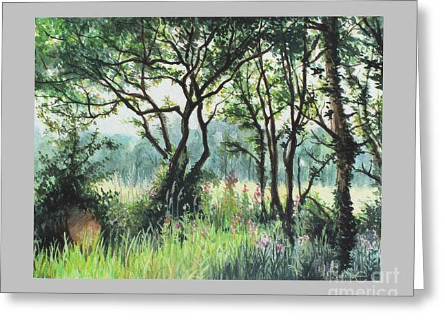 Meadow Greeting Card by Caroline Beaumont