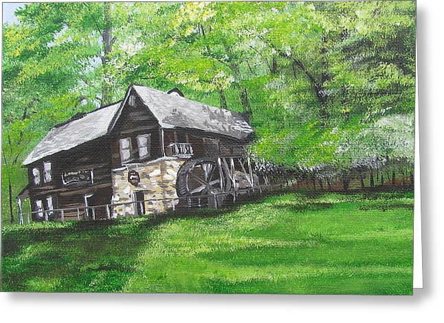Meadow Run Mill Greeting Card by Michelle Young