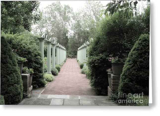 Meadowbrook Gardens - Bloomfield Hills Michigan  Greeting Card by Kathy Fornal