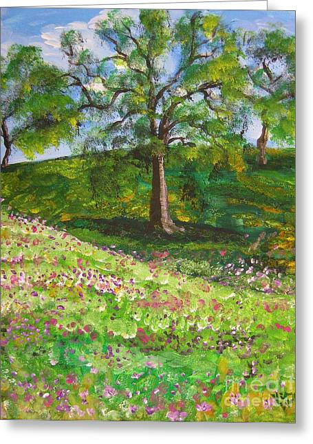 Meadowland    Painting Greeting Card by Judy Via-Wolff
