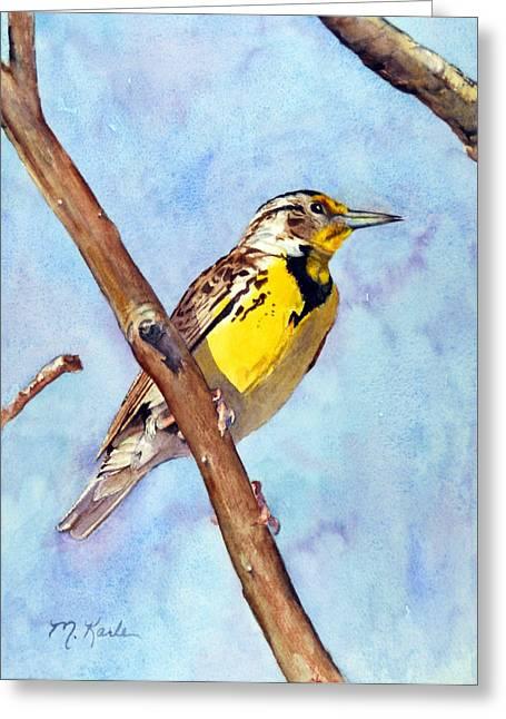 Meadowlark Sunrise Greeting Card