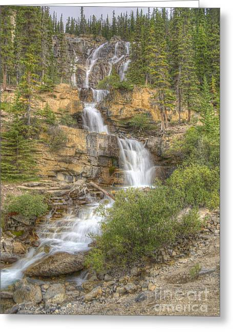 Meandering Waterfall Greeting Card