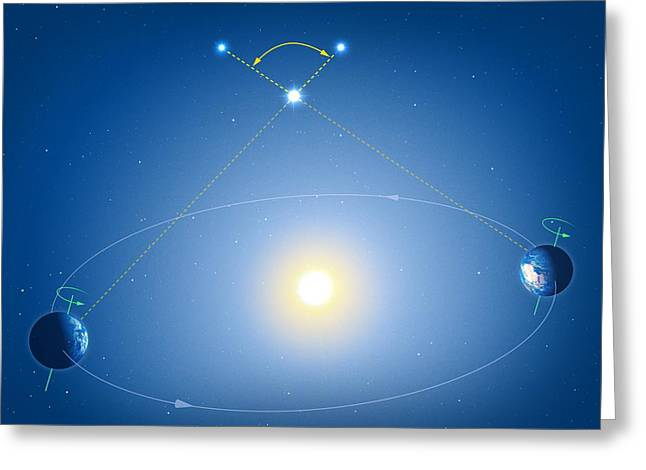 Measuring Stellar Distances Greeting Card by Science Photo Library