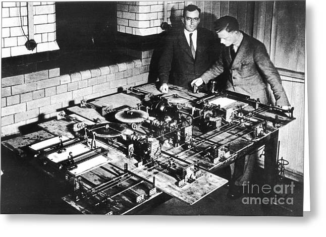 Meccano Differential Analyser, 1935 Greeting Card by Emilio Segre Visual Archives/american Institute Of Physics