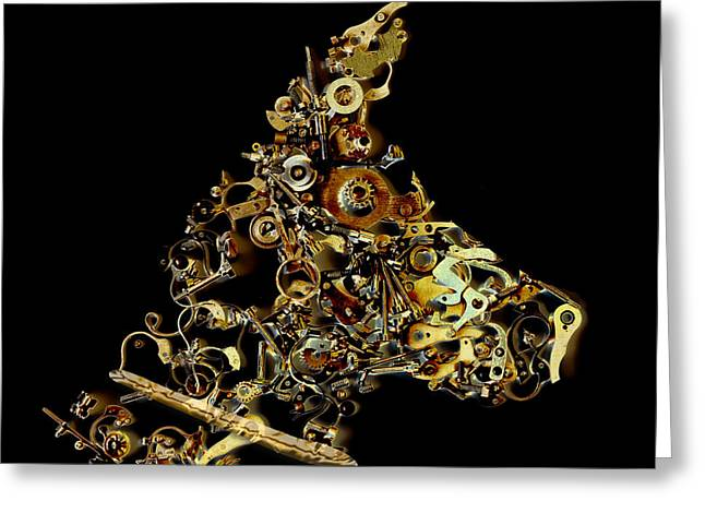 Mechanical - Dog Greeting Card by Fran Riley