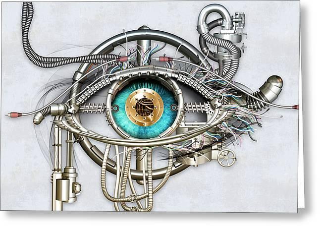 Mechanical Eye Greeting Card