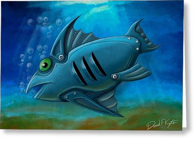 Mechanical Fish 4 Greeting Card