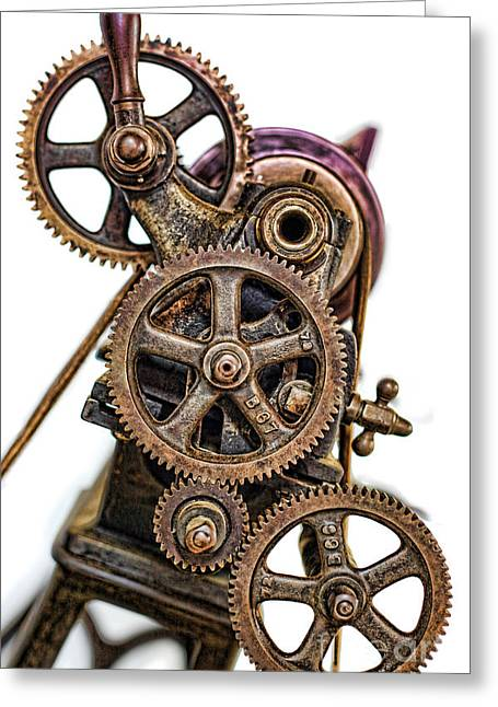 Mechanical Gears - Industrial Age  Greeting Card by Lee Dos Santos