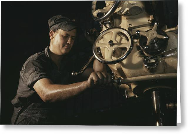 Mechanical Operator On Boiler Parts Greeting Card by Stocktrek Images