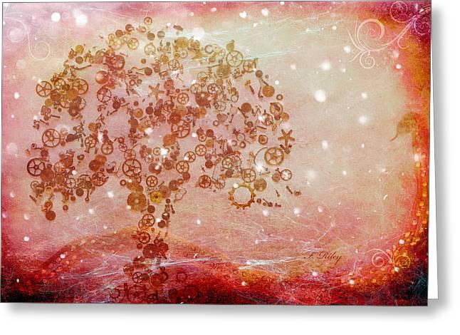 Mechanical - Tree Greeting Card by Fran Riley
