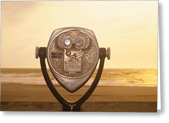 Mechanical Viewer, Pacific Ocean Greeting Card
