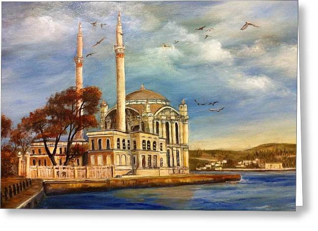 Mecidiye Mosque Greeting Card by Didem Gungor Walker
