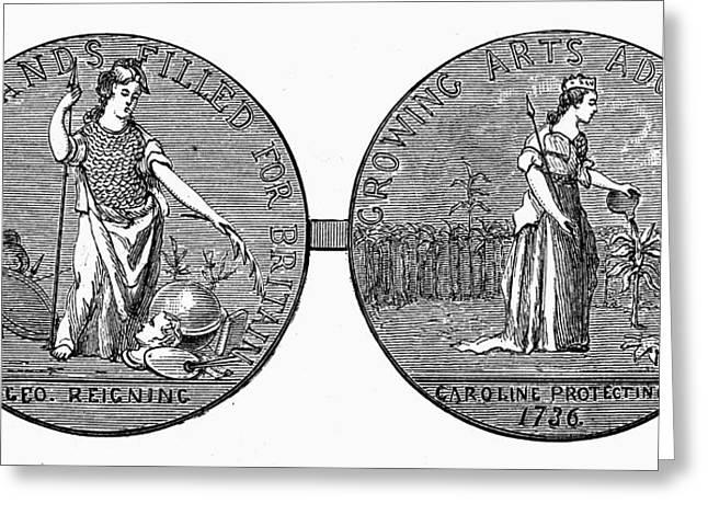 Medal Carolinas, 1736 Greeting Card