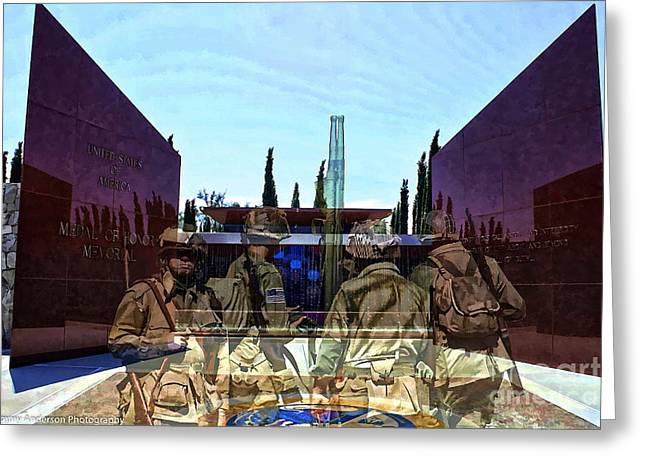 Medal Of Honor Memorial Revisited Greeting Card by Tommy Anderson