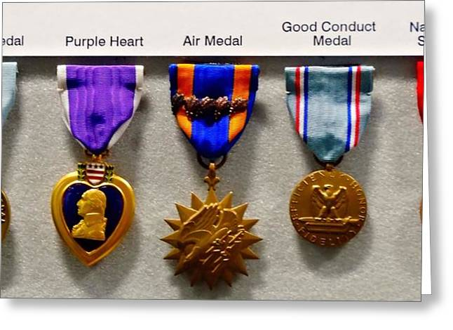 Medals Of Valor Greeting Card by Dan Sproul