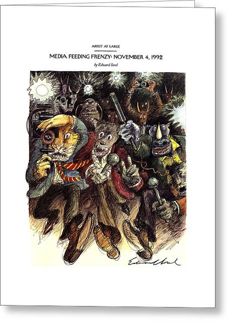 Media Feeding Frenzy: November 4 Greeting Card