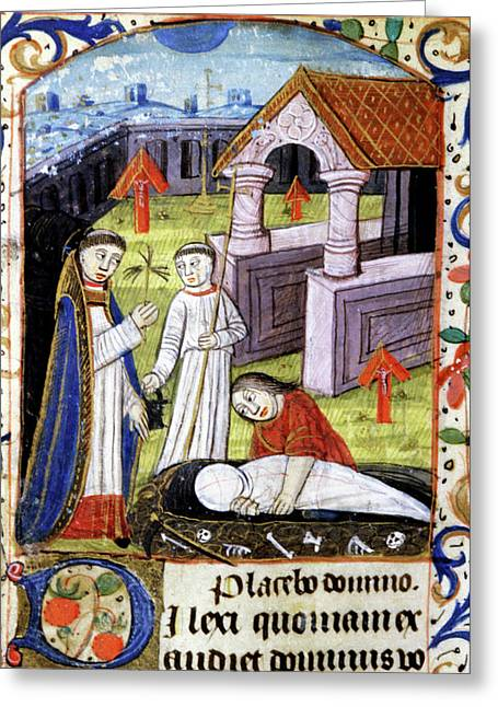 Mediaeval Funeral Greeting Card