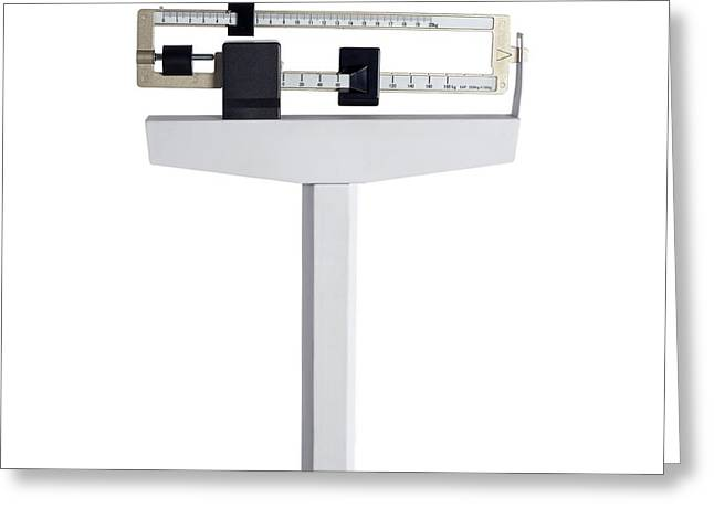 Medical Column Scales Greeting Card
