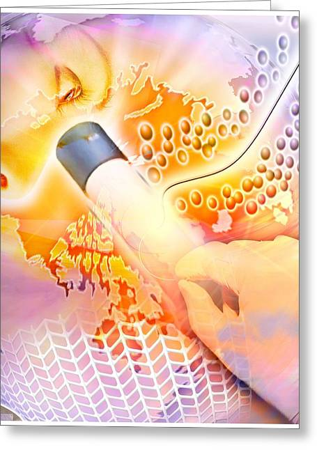Medical Discovery Composite Greeting Card by Design Pics Eye Traveller