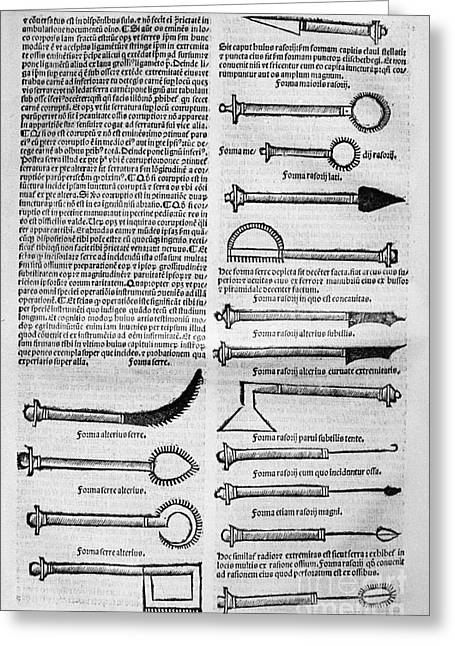 Medical Instruments, 1531 Greeting Card by Granger
