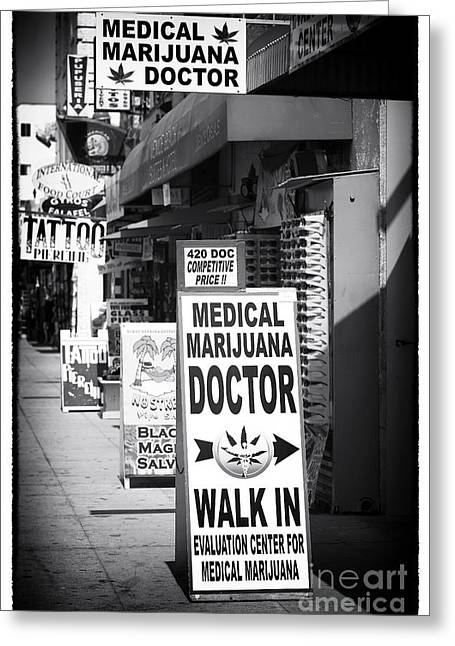 Medical Marijuana Doctor Greeting Card by John Rizzuto