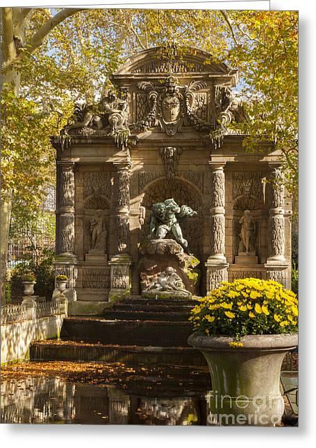 Medici Fountain - Paris Greeting Card by Brian Jannsen