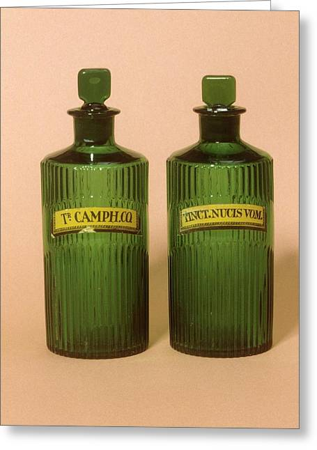 Medicine Bottles Greeting Card by Science Photo Library