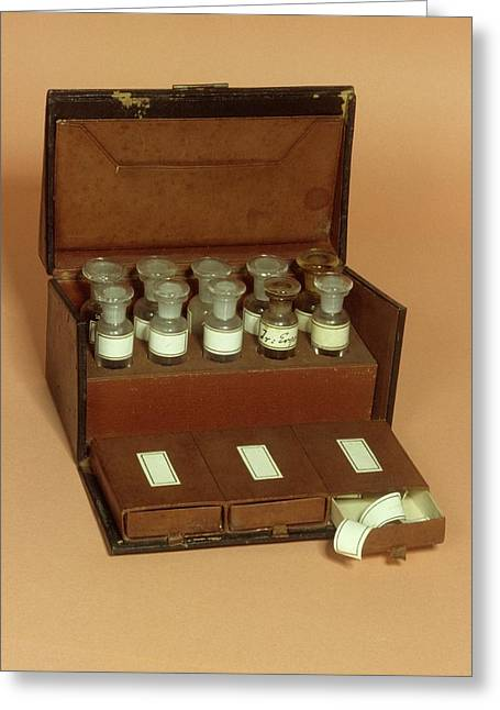 Medicine Box Greeting Card by Science Photo Library