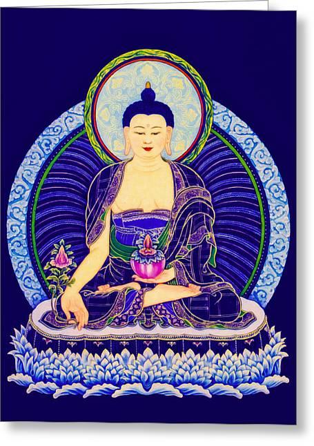 Medicine Buddha 6 Greeting Card