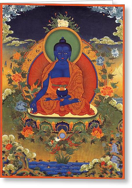 Medicine Buddha 8 Greeting Card