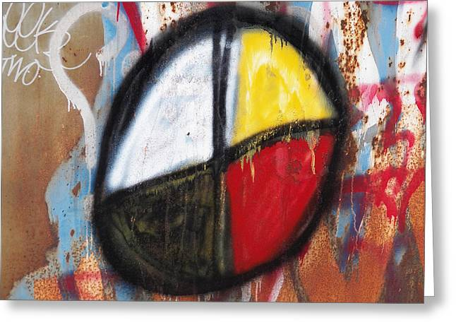 Medicine Wheel Graffiti Greeting Card