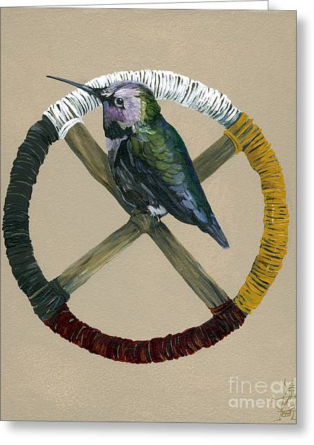 Medicine Wheel Greeting Card by J W Baker