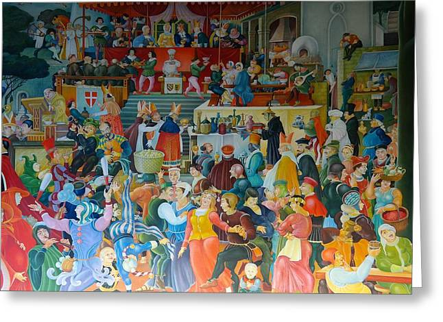 Medieval Banquet Greeting Card by Mountain Dreams