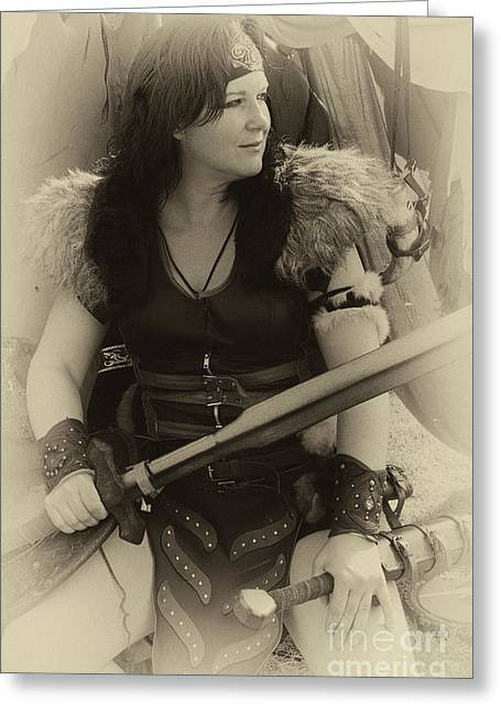 Medieval Barbarian Eriana Iceni 2 Greeting Card by Bob Christopher