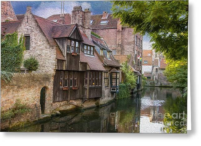 Medieval Bruges Greeting Card