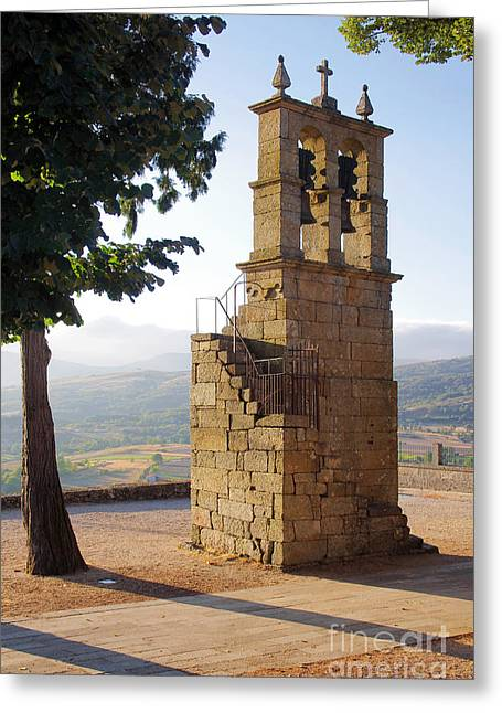 Medieval Campanile  Greeting Card by Carlos Caetano