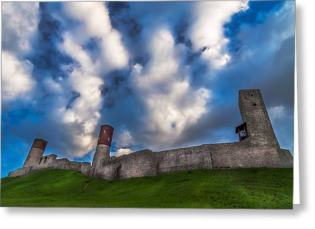 Medieval Castle In Checiny In Poland Greeting Card