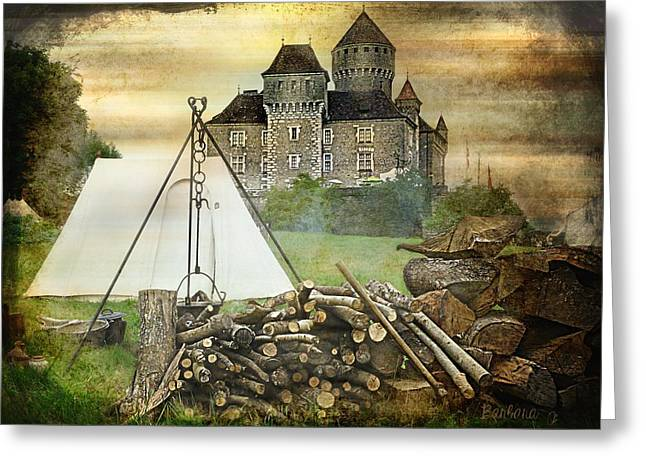 Medieval Castle Of Montrottier - France Greeting Card by Barbara Orenya