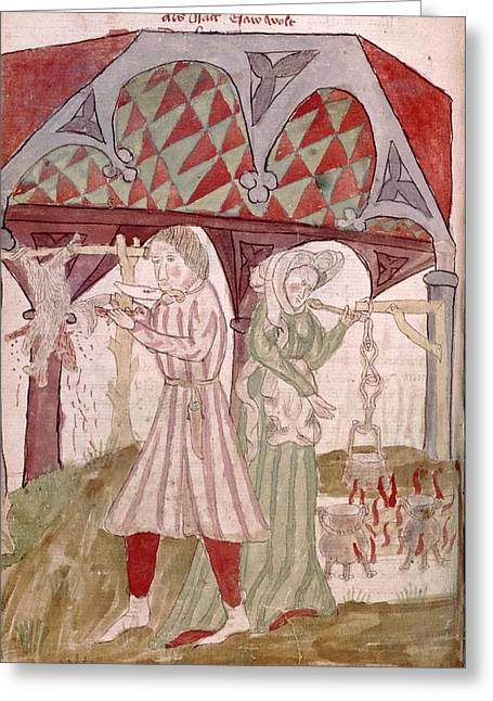 Medieval Cooking Greeting Card