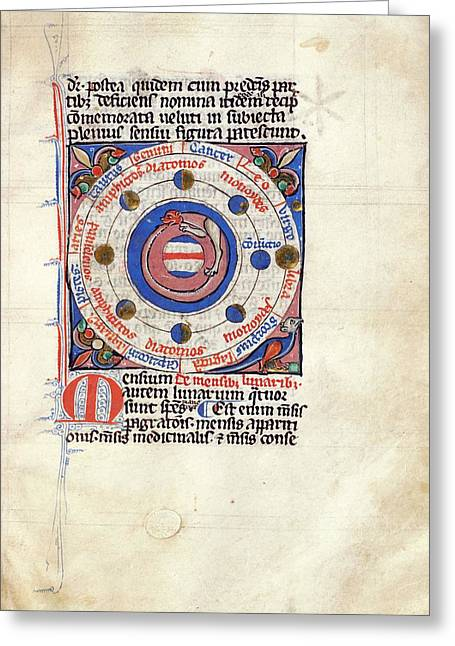 Medieval Depiction Of The Solar System Greeting Card