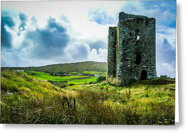 Medieval Dunmanus Castle On Ireland's Mizen Peninsula Greeting Card
