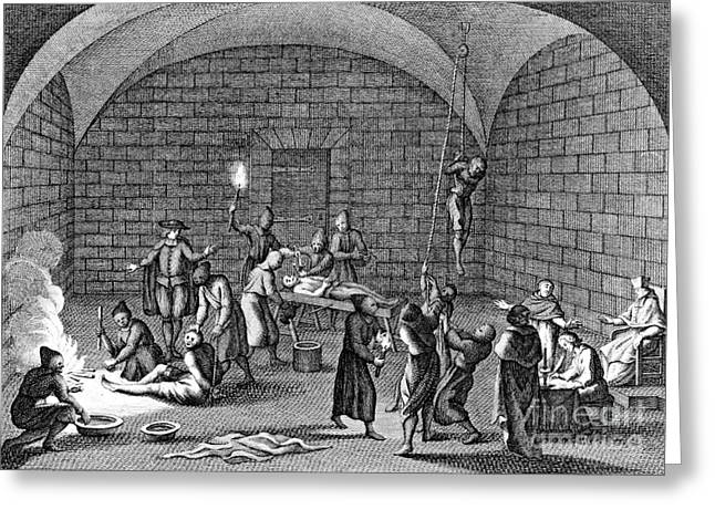 Medieval Inquisition Torture Chamber Greeting Card